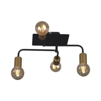 Lampa sufitowa Arden - czarne pręty