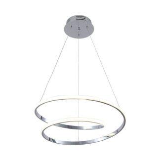Nowoczesna lampa wisząca Ilusion - srebrna, LED
