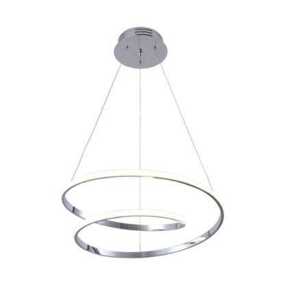 srebrna lampa wisząca led
