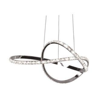 Elegancka lampa wisząca Diego - LED, kryształki