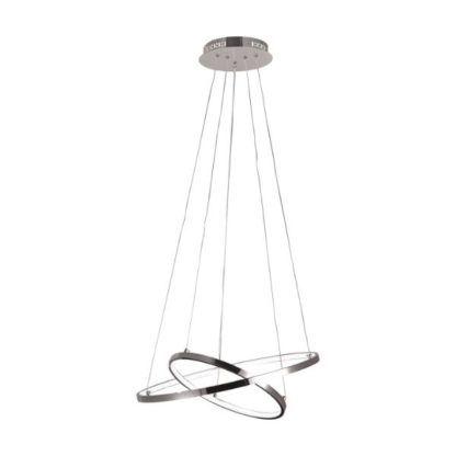 ledowa lampa wisząca srebrne okręgi