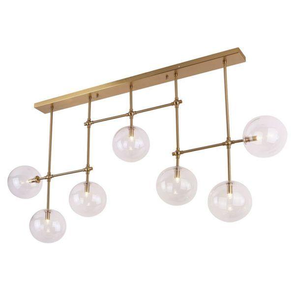 molekularna lampa złota z kulami