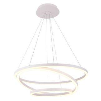 Lampa wisząca Angel - białe okręgi - możliwość ściemniania