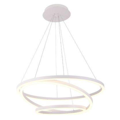 biała lampa wisząca spirala led