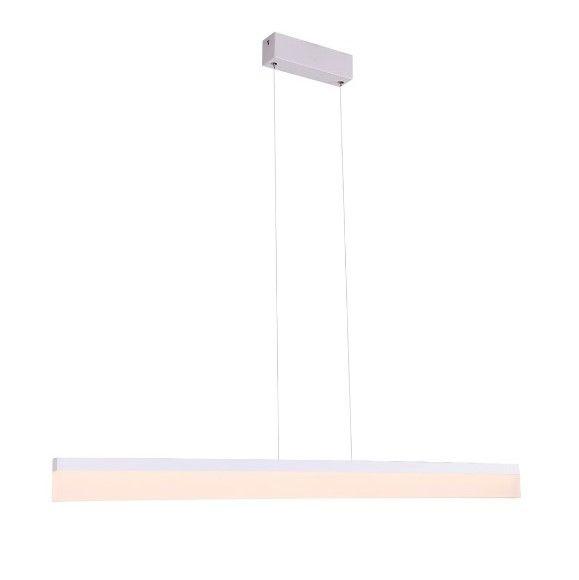 Minimalistyczna lampa wisząca Rapid - LED, biała