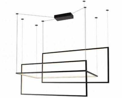 Designerska lampa wisząca Geometric - czarna