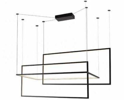 czarna lampa wisząca designerska led