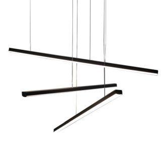 Czarna lampa wisząca Trio - panele LED