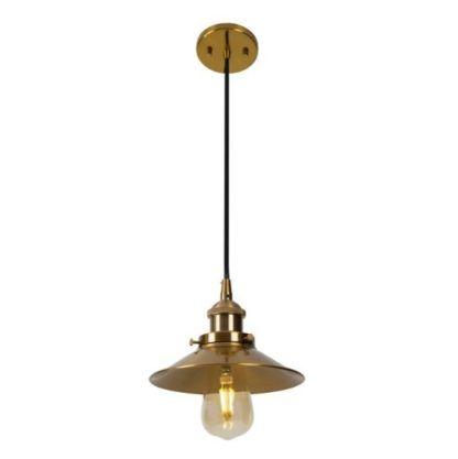 złota lampa wisząca styl retro