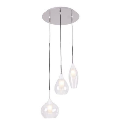 szklana lampa wisząca regulowane klosze