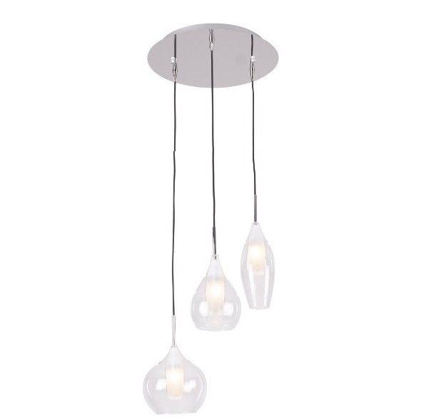 nowoczesna lampa wisząca ze szklanymi kloszami