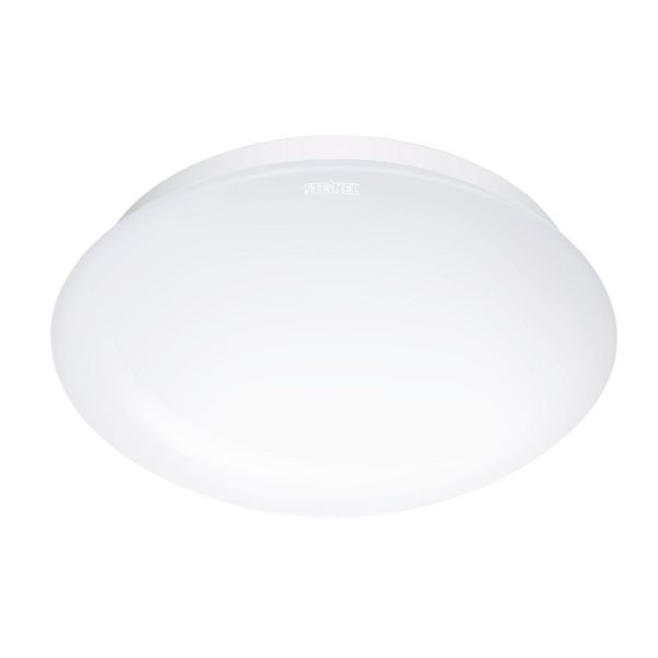 okrągły plafon z białego szkła