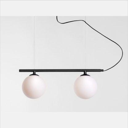 lampa z 2 kulami pozioma