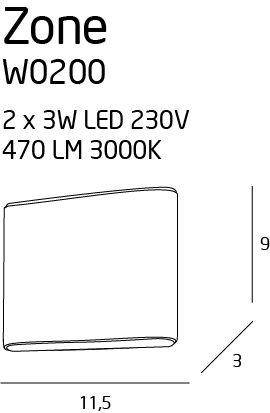 nowoczesny kinkiet LED
