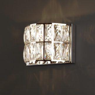 Elegancki kinkiet Diamante - kryształki, srebrny