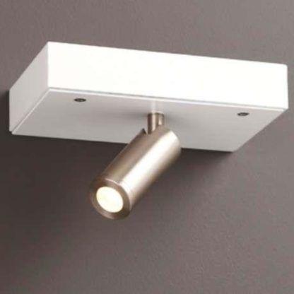 Nowoczesny kinkiet Power - biały, port USB