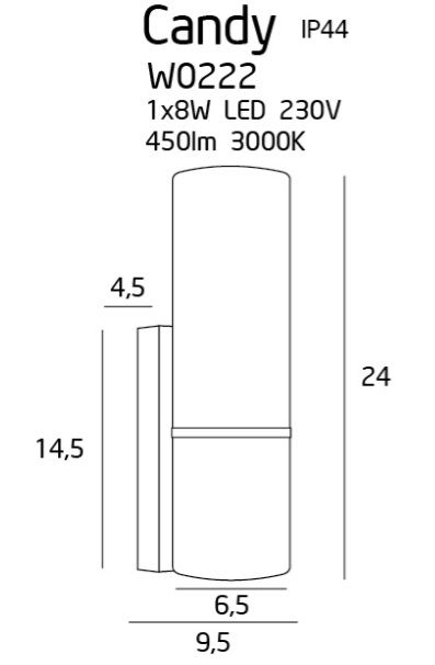 Kinkiet łazienkowy Candy - chrom, szkło, IP44