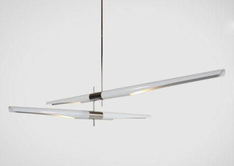 Pozioma lampa wisząca Dragonfly Duo - biała