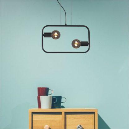 lampa wisząca czarna podwójna