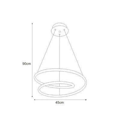nowoczesna lampa wisząca led