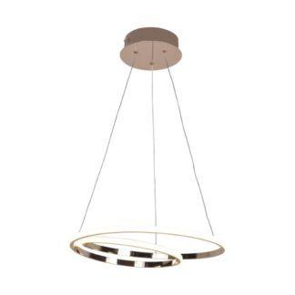 Zlota lampa wisząca Ilusion - ringi LED
