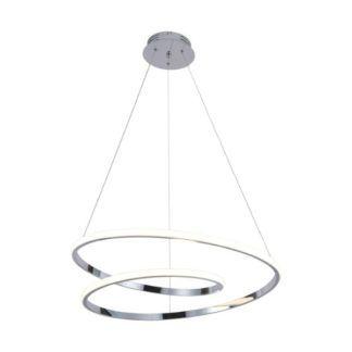 Srebrna lampa wisząca ilusion - panel LED