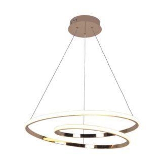 Efektowna lampa wisząca Ilusion - złota, LED