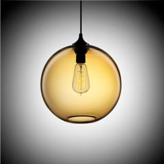 Modna lampa kula Love Bomb - szklany klosz