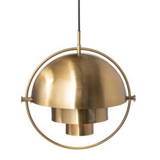 Dekoracyjna lampa wisząca Mobile - złota mosiężna