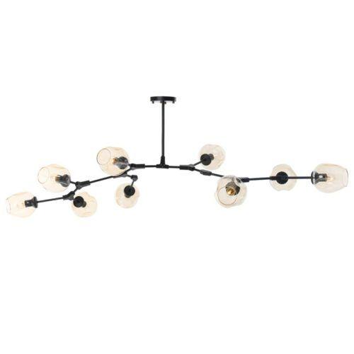 Stylowa lampa molekularna Modern Orchid - szklane klosze