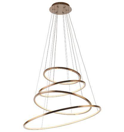 lampa ze złotymi ringami