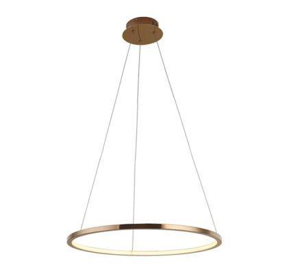 Lampa wisząca ring LED Queen 3000K - 50cm, miedź