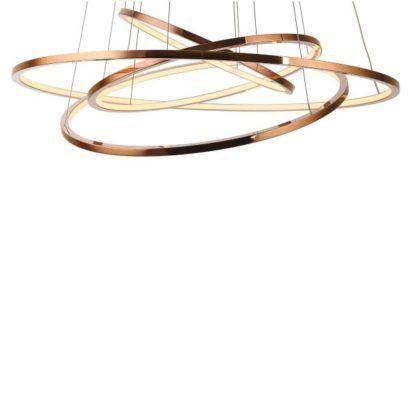 lampa wisząca złote ringi led