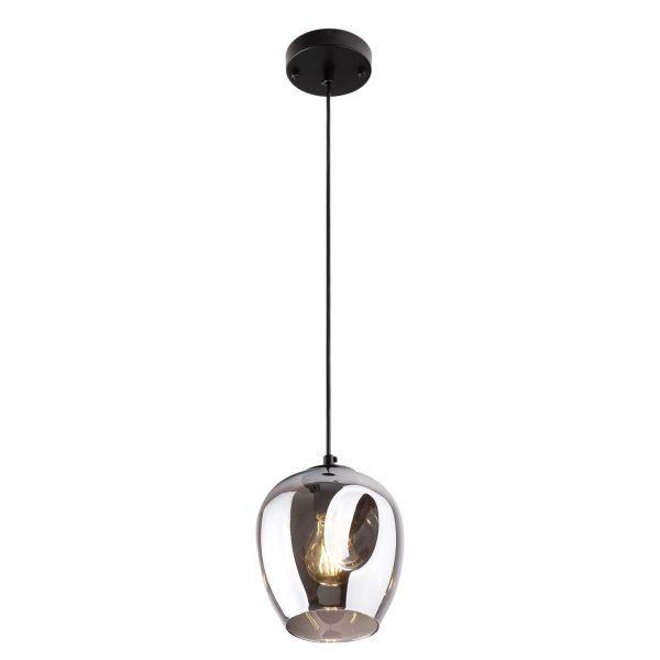 lampa z szarego błyszczącego szkła