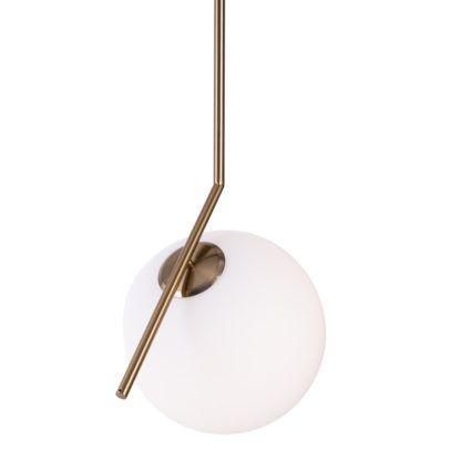 Elegancka lampa wisząca kula Solaris - złota mosiężna