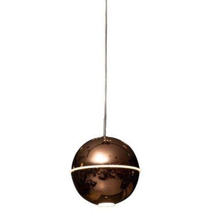 miedziana lampa kula wisząca