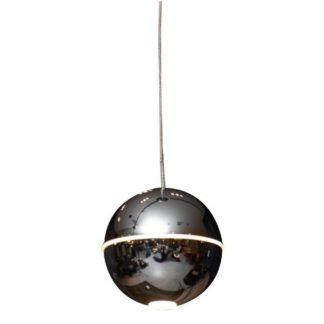 Piękna lampa wisząca kula LED Zen - srebrna