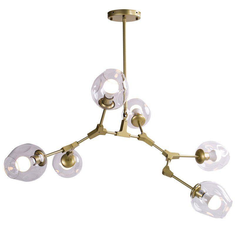 lampa złota nowoczesna - do salonu