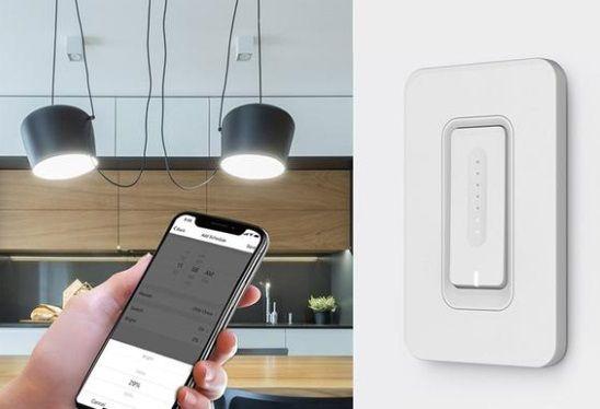 ściemniacz ścienny - włącznik światła na smartfona