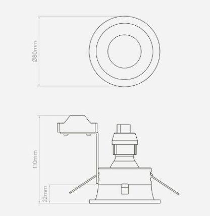 Oczko sufitowe Minima - Astro Lighting - czarny mat, IP65