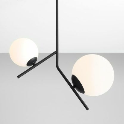 lampa wisząca biel i czerń nowoczesna