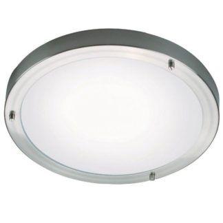Srebrny plafon Ancona LED Maxi - Nordlux - IP44