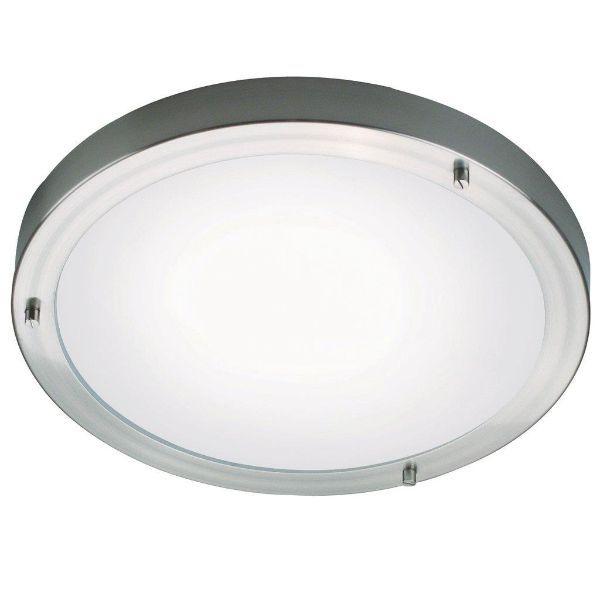srebrny okrągły plafon
