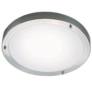 Okrągły plafon Ancona Maxi - Nordlux - srebrny, IP44