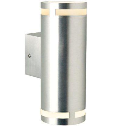srebrny kinkiet pionowe światło