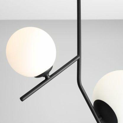 czarna lampa ze szklanymi kloszami nowoczesna