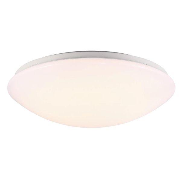 owalny plafon mleczne szkło