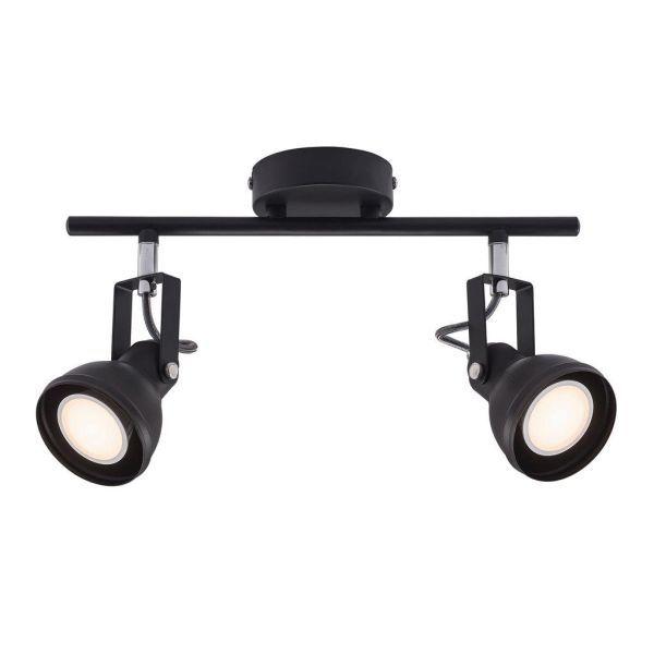 podłużna lampa sufitowa dwa reflektory