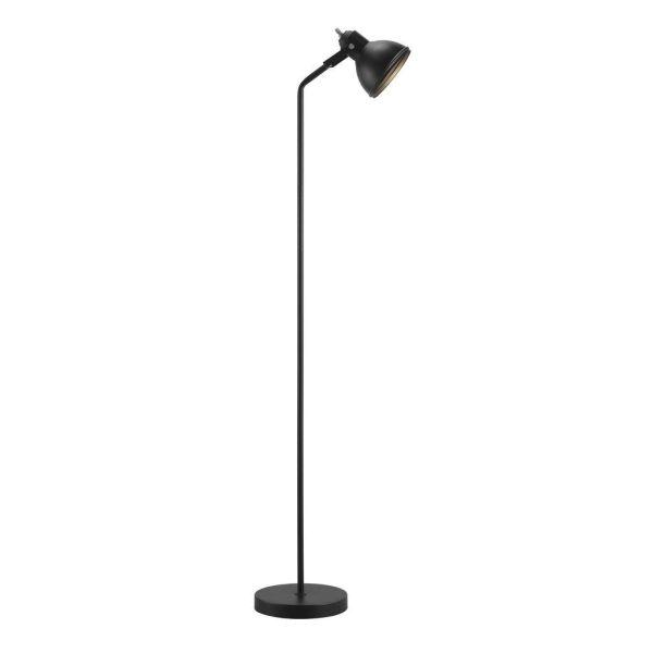 czarna lampa na bordowej ścianie