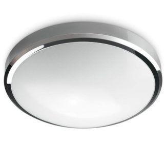 Okrągły plafon Batton - Nordlux - srebrny, IP54